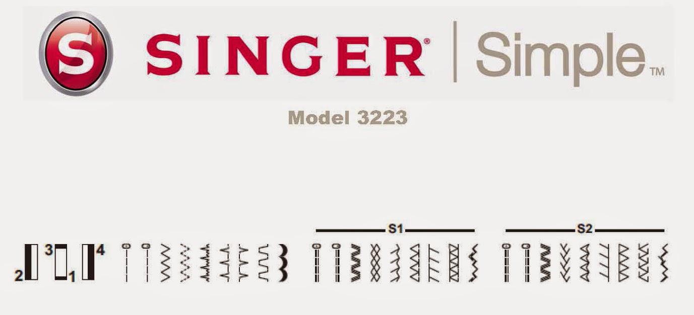 Singer Simple 3223 Mesin Jahit 1306 E